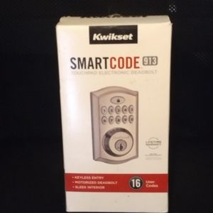 KWIKSET SMARTCODE 913 DEADBOLT - Smart Lock -As is